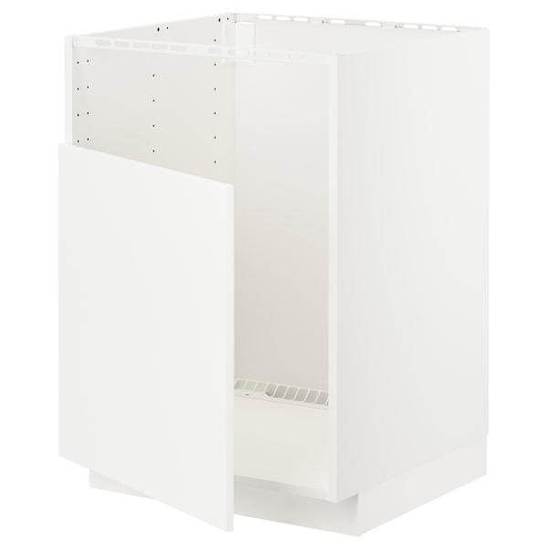 METOD Base cabinet f BREDSJÖN sink, white/Veddinge white, 60x60 cm