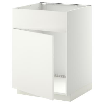 METOD base cabinet f sink w door/front white/Häggeby white 60.0 cm 61.6 cm 88.0 cm 60.0 cm 80.0 cm