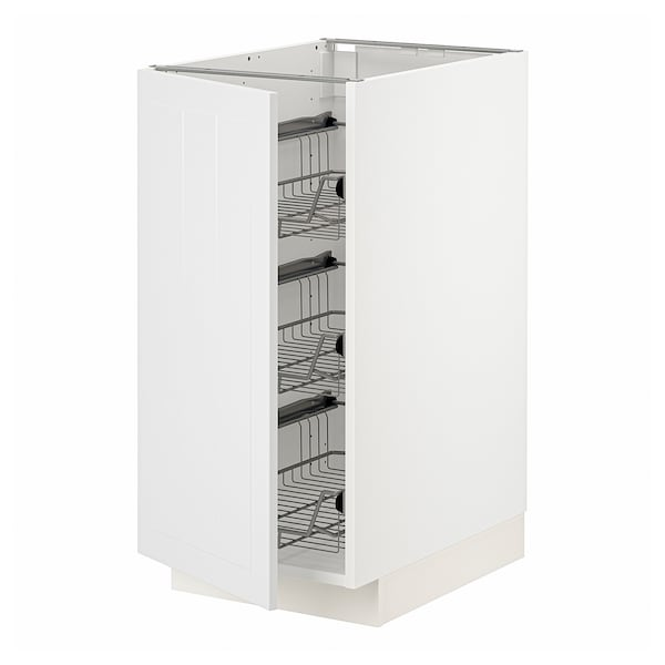 METOD Base cabinet with wire baskets, white/Stensund white, 40x60 cm
