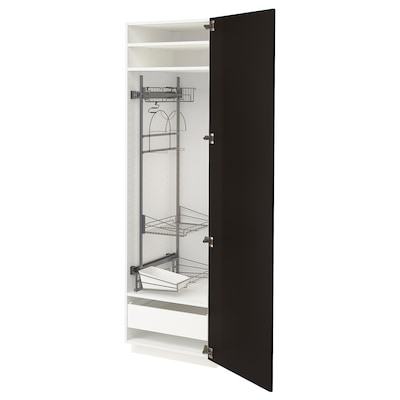 METOD / FÖRVARA high cabinet with cleaning interior white/Kungsbacka anthracite 60.0 cm 61.6 cm 208.0 cm 60.0 cm 200.0 cm