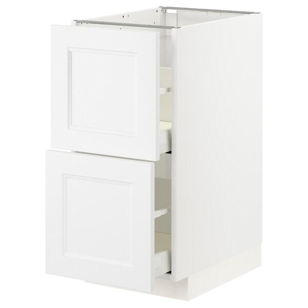 METOD / MAXIMERA Base cb 2 fronts/2 high drawers, white/Axstad matt white, 40x60 cm