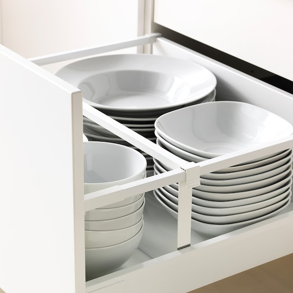 METOD / MAXIMERA Base cb 2 fronts/2 high drawers, white/Bodbyn grey, 60x60 cm