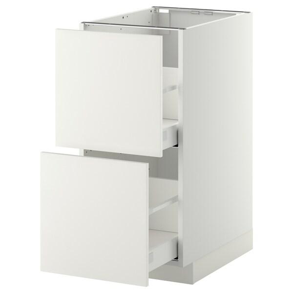 METOD / MAXIMERA base cb 2 fronts/2 high drawers white/Häggeby white 40.0 cm 61.6 cm 88.0 cm 60.0 cm 80.0 cm