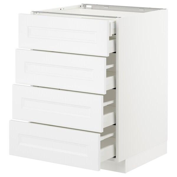 METOD / MAXIMERA Base cb 4 frnts/2 low/3 md drwrs, white/Axstad matt white, 60x60 cm