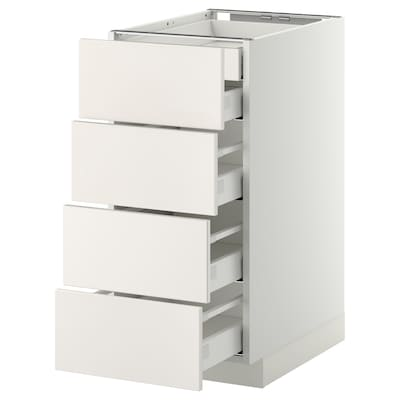 METOD / MAXIMERA Base cb 4 frnts/2 low/3 md drwrs, white/Veddinge white, 40x60 cm