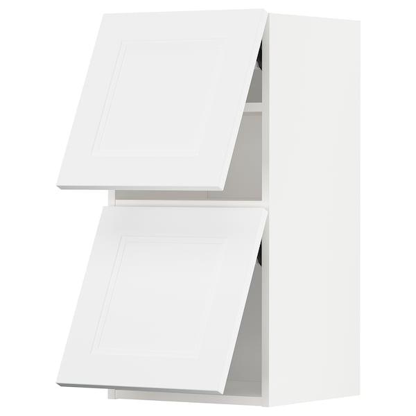METOD Wall cab horizo 2 doors w push-open, white/Axstad matt white, 40x80 cm