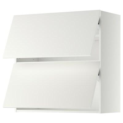 METOD wall cabinet horizontal w 2 doors white/Häggeby white 80.0 cm 38.6 cm 80.0 cm