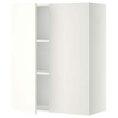 METOD wall cabinet with shelves/2 doors white/Häggeby white 80.0 cm 38.6 cm 100.0 cm