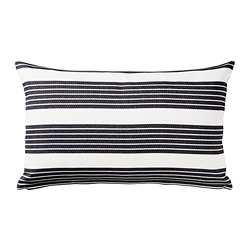 METTALISE cushion cover, white, dark grey