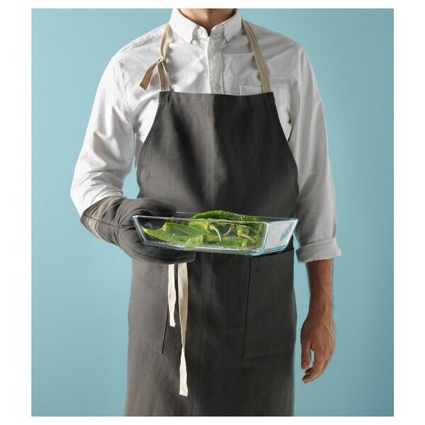 MIXTUR oven/serving dish clear glass 27 cm 18 cm