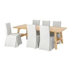 MÖCKELBY /  HENRIKSDAL Table and 6 chairs