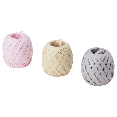MOLOKEN ribbon grey/beige/pink 20 m 3 pack 60 m
