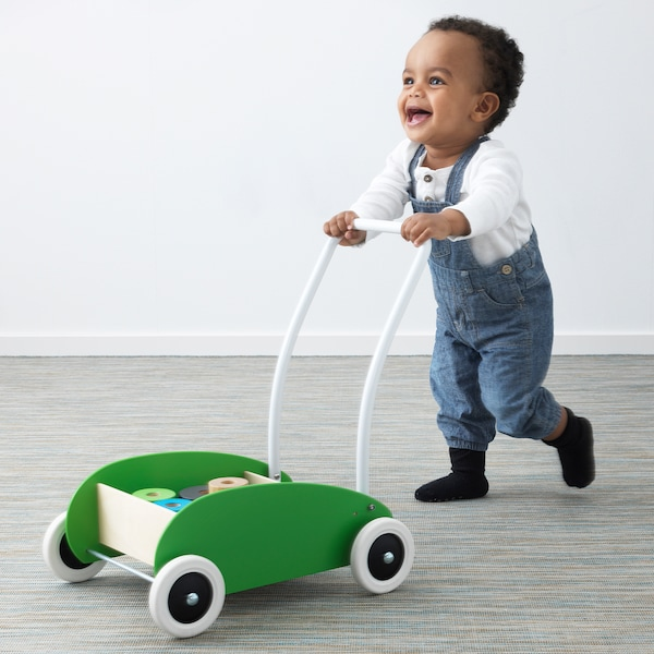 MULA toddle truck green/birch 40 cm 30 cm 46 cm