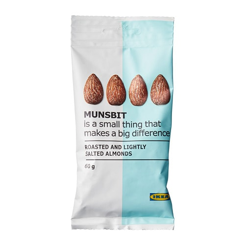 MUNSBIT Dry-roasted almonds with salt