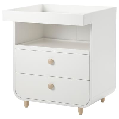 MYLLRA Changing table with drawers, white