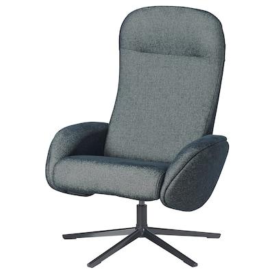 NÄTTRABY Swivel recliner, Tallmyra black/grey