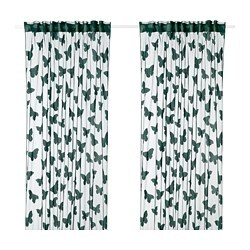 NÄSSELFJÄRIL net curtains, 1 pair, green