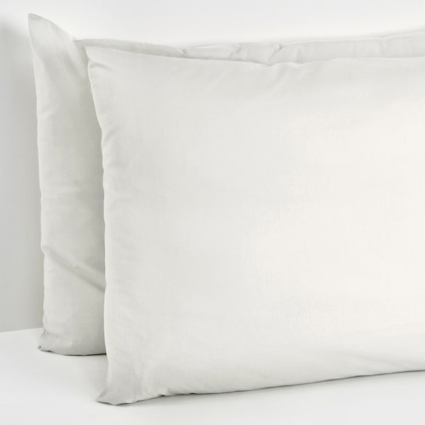 NEJLIKROT Pillowcase, white, 65x100 cm