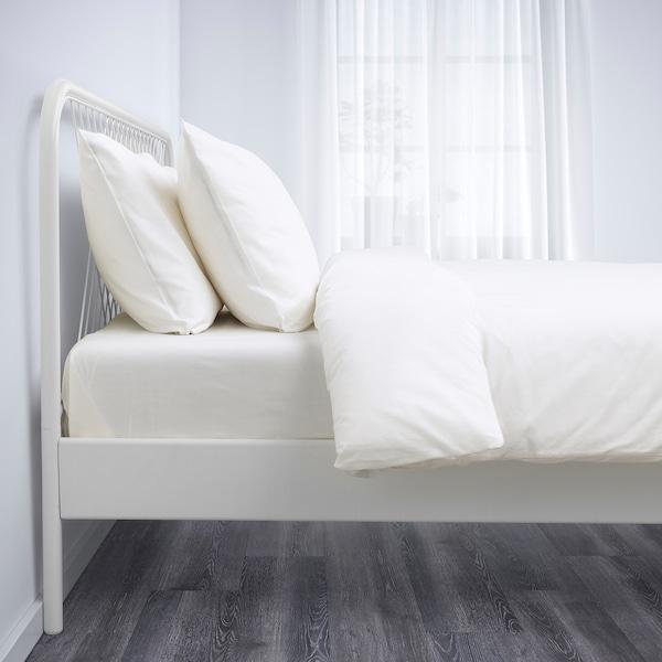 NESTTUN Bed frame, white/Leirsund, 160x200 cm