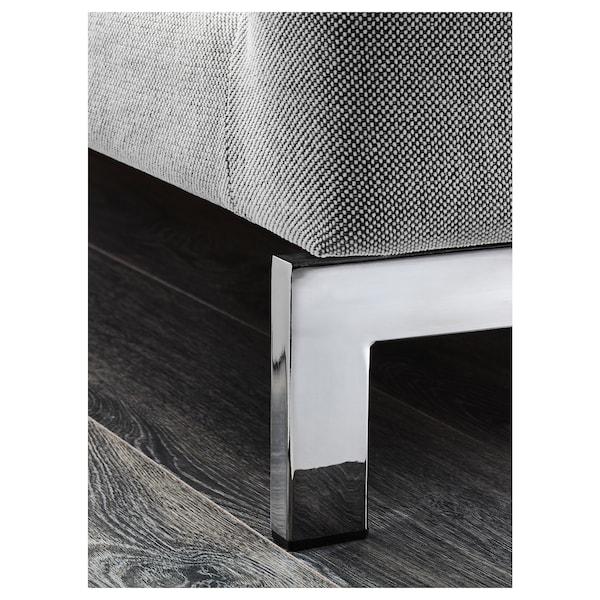 NOCKEBY 3-seat sofa, with chaise longue, right/Tallmyra white/black/chrome-plated