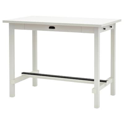 NORDVIKEN Bar table, white, 140x80x105 cm