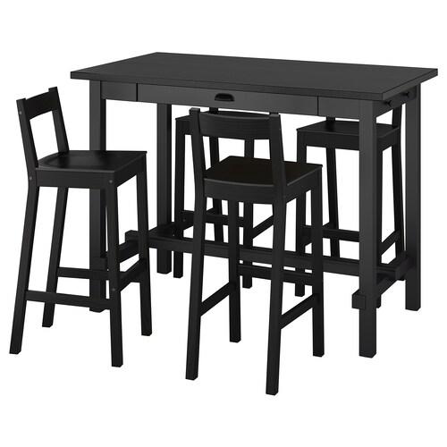 IKEA NORDVIKEN / NORDVIKEN Bar table and 4 bar stools