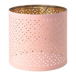 NYMÖ lamp shade, pink, brass-colour