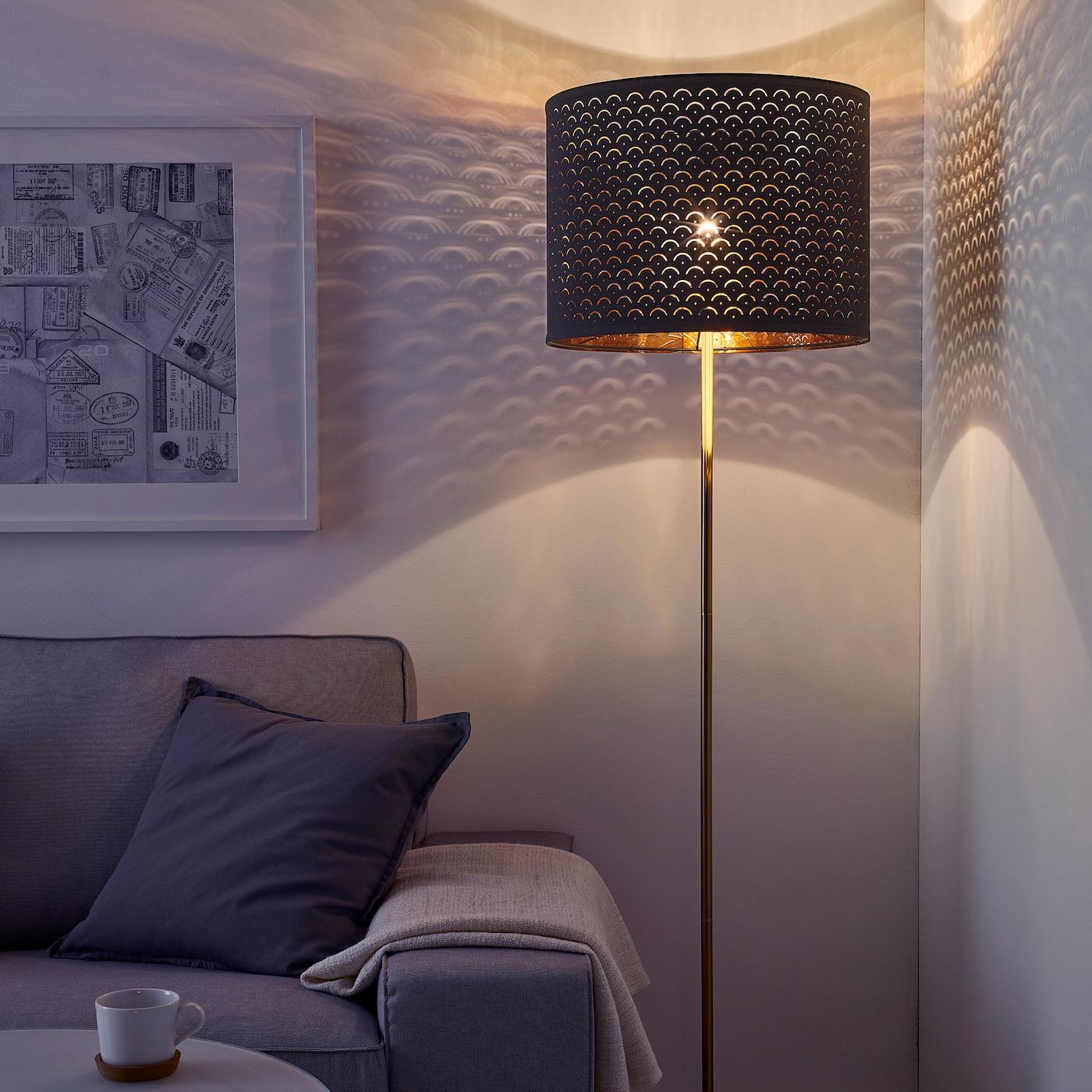 Nymo Lamp Shade Black Brass Colour Ikea Switzerland