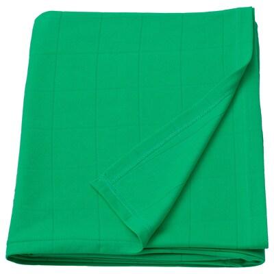 ODDHILD throw bright green 170 cm 120 cm