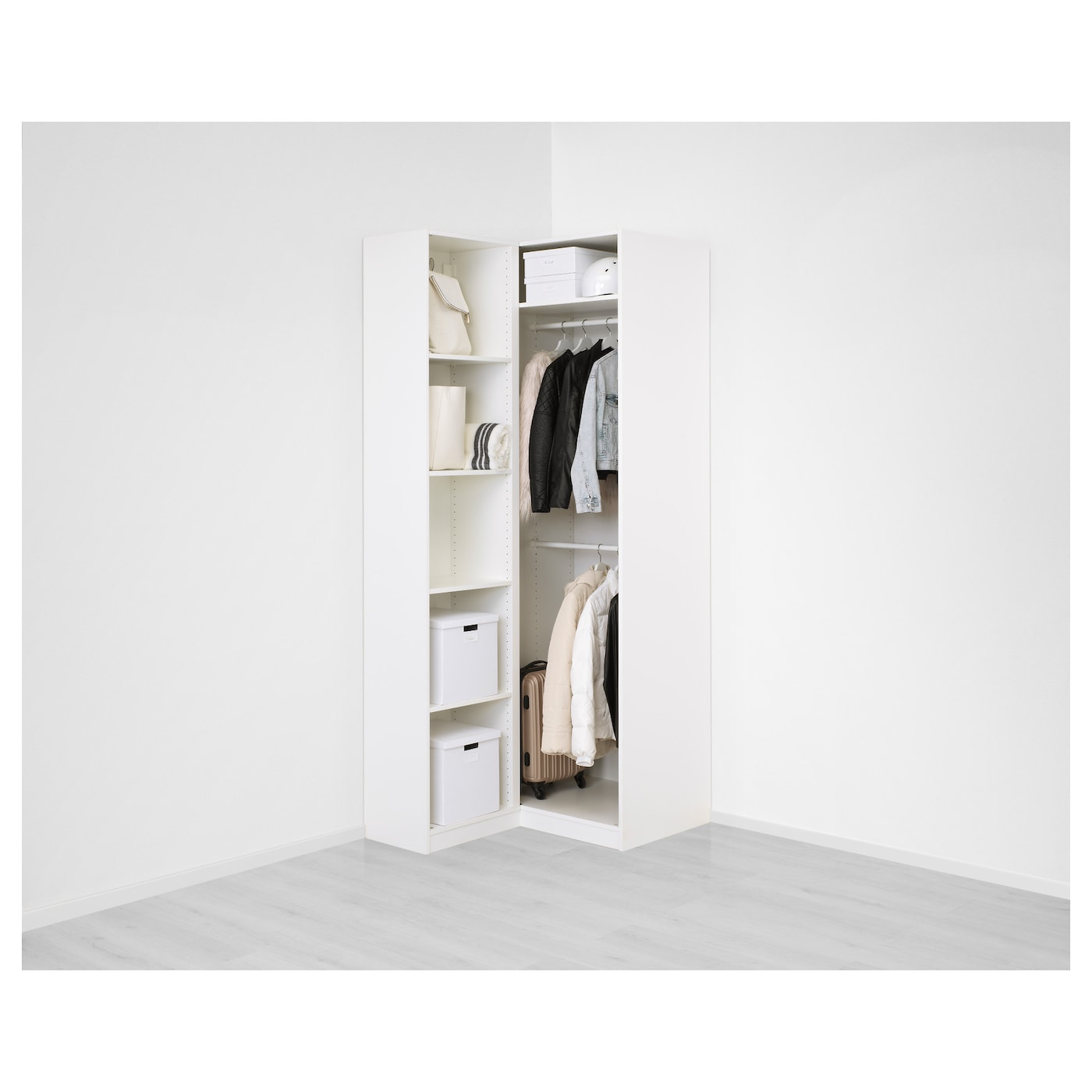 Pax Corner Wardrobe White Fardal Vikedal Ikea Switzerland