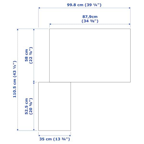 PAX / FARDAL/ÅHEIM Corner wardrobe, high-gloss white/mirror glass, 111/88x201 cm