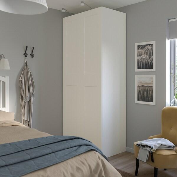 PAX / GRIMO Wardrobe combination, white/white, 100x60x236 cm