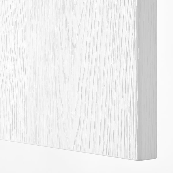 PAX / SLENESET Wardrobe combination, white/white wood effect, 100x60x236 cm