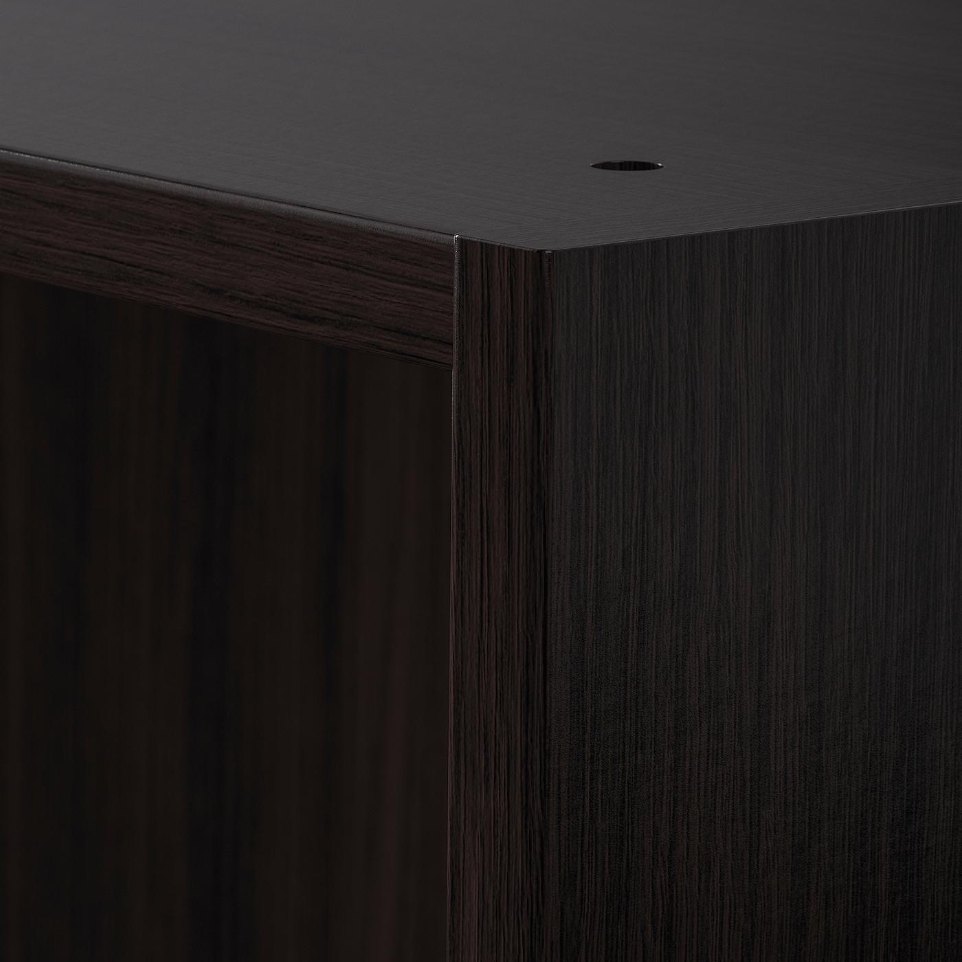 PAX Wardrobe frame, black-brown, 75x58x201 cm