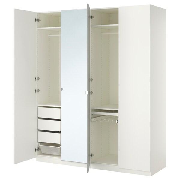 PAX wardrobe white/Forsand Vikedal 200 cm 60 cm 236.4 cm
