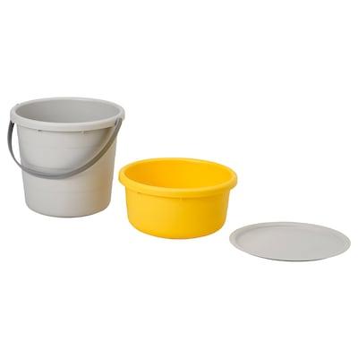 PEPPRIG 3-piece bucket set with lid