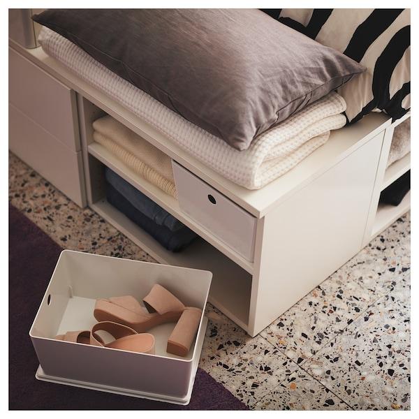 PLATSA bed frame with 4 drawers white/Fonnes 40 cm 243.9 cm 141.7 cm 42.6 cm 200 cm 140 cm