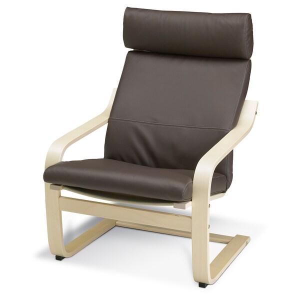POÄNG Armchair cushion, Glose dark brown