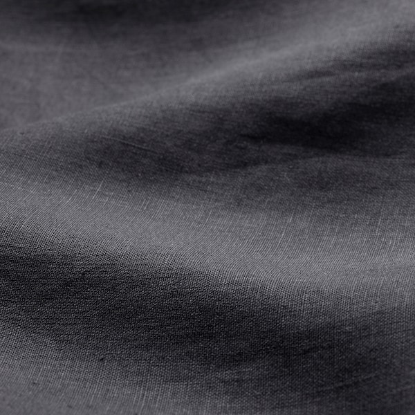 PUDERVIVA Duvet cover and pillowcase, dark grey, 150x200/50x60 cm