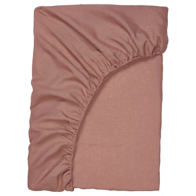 PUDERVIVA fitted sheet dark pink 104 /inch² 200 cm 140 cm 36 cm
