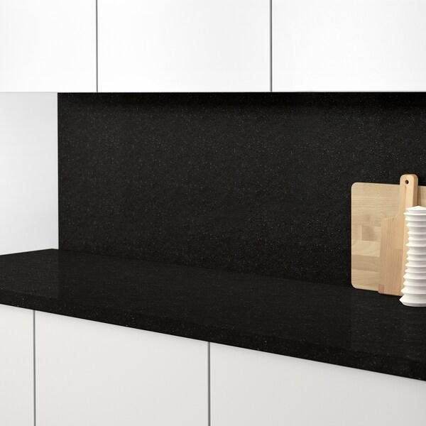 RÅHULT Custom made wall panel, anthracite stone effect/quartz, 1 m²x1.2 cm