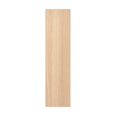 REPVÅG Door with hinges, white stained oak veneer, 50x195 cm