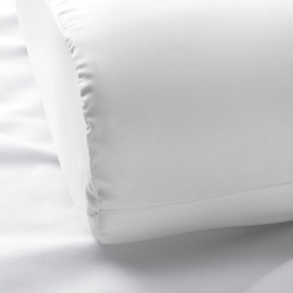 ROSENSKÄRM Pillowcase for ergonomic pillow, white, 33x50 cm