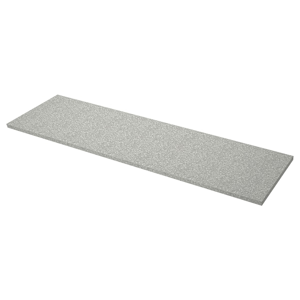 SÄLJAN custom made worktop light grey mineral effect/laminate 100 cm 10 cm 400 cm 63.6 cm 125 cm 3.8 cm