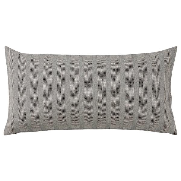 SAGALOVISA Cushion, black/natural, 30x58 cm