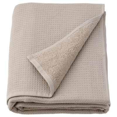 SALVIKEN Bath sheet, dark beige, 100x150 cm