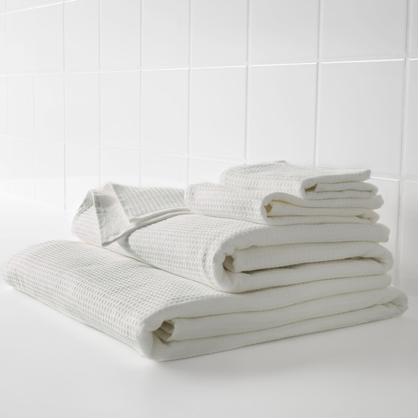 SALVIKEN Bath sheet, white, 100x150 cm