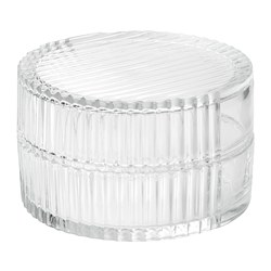 SAMMANHANG Glass box with lid