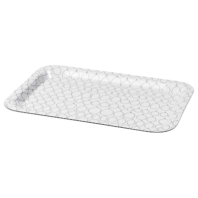 SAMMANHANG Tray, white, 28x20 cm