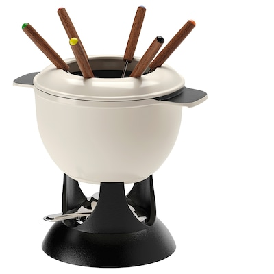 SENIOR Fondue set, off-white